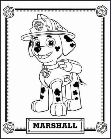 Marshall de la patruya canina 1 - Dibujos para colorear
