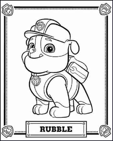 Rubble de la patrulla canina - Dibujos para colorear
