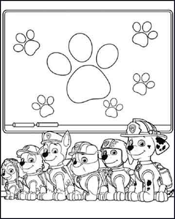 chase marshall rocky zuma robble y skye la patrulla canina - Dibujos para colorear