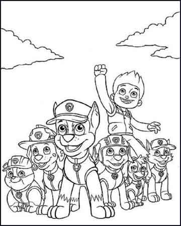 la patrulla canina - Dibujos para colorear