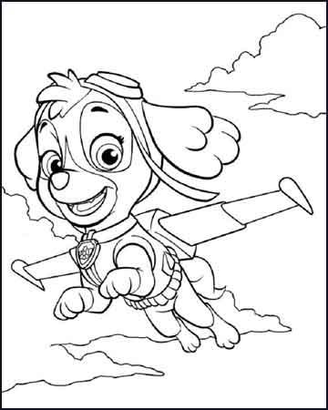 skye planeando la patrulla canina 1 - Dibujos para colorear
