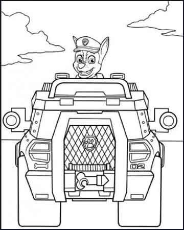 vehiculo patrulla canina para colorear - Dibujos para colorear